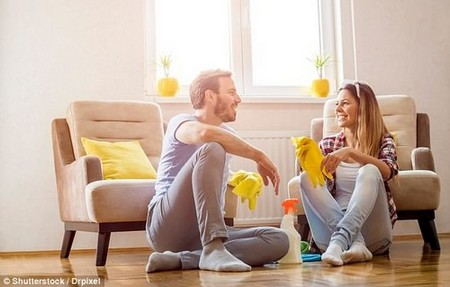 Couples can improve their relationships and sex lives by doing chores together, research suggests