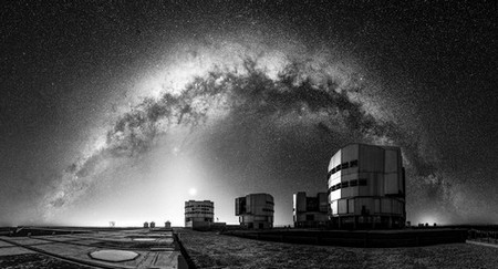 The Milky Way seen behind the ESO Very Large Telescope