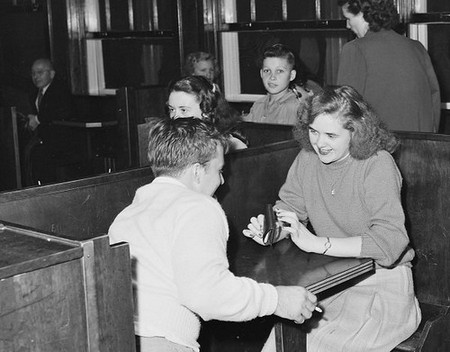 policeman and couple in soda fountain prior to movie show inland steel company wheelwright 1 2 mines nara 541427 Old people share with us their biggest regrets in life