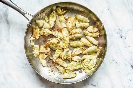 Spinach Artichoke Pasta cook the artichokes