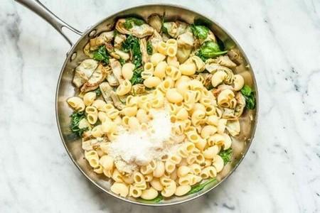 Pasta artichoke hearts spinach add the pasta