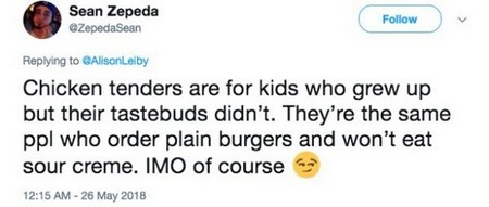 humor chicken tenders twitter9 People are finally fighting for chicken fingers to be taken off the kids menu (11 Photos)