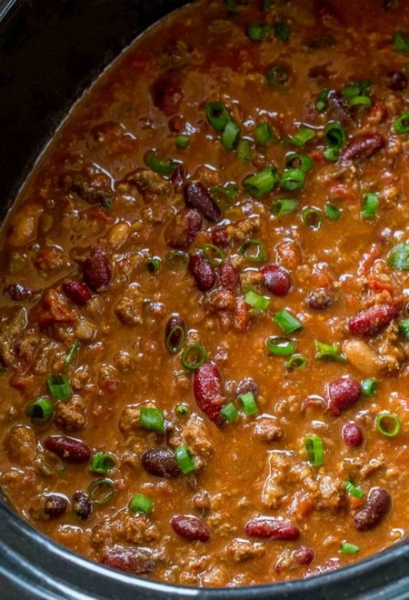 Set it and forget it, this is the easiest Crockpot Beef Chili you'll ever make and it is SO FLAVORFUL!