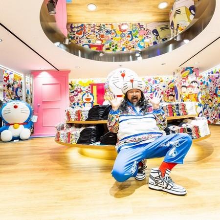 Takashi Murakami at Uniqlo's Fifth Avenue flagship in New York City. Photo: Uniqlo