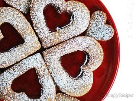 Valentine's Linzer Cookies