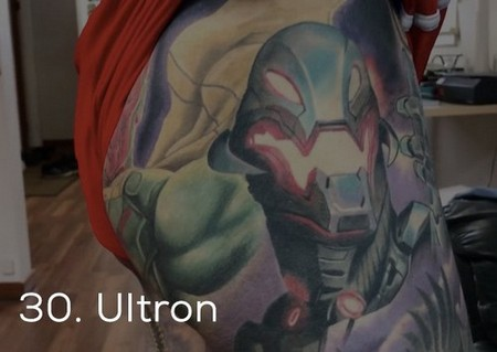 dude sets a guinness record for the most marvel tattoos x photos 258 Dude sets a Guinness Record for the most Marvel tattoos (35 Photos)