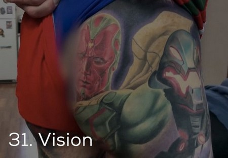 dude sets a guinness record for the most marvel tattoos x photos 259 Dude sets a Guinness Record for the most Marvel tattoos (35 Photos)