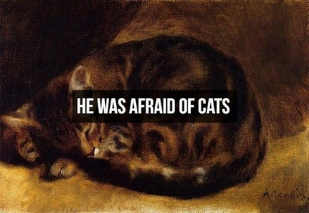 800px pierre auguste renoir sleeping cat Things you might not know about Napoleon Bonaparte (20 Photos)