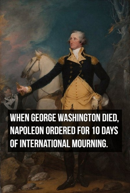 general george washington at trenton by john trumbull1 Things you might not know about Napoleon Bonaparte (20 Photos)