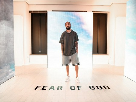Jerry Lorenzo in the Fear of God installation.Photo: BFA for Barneys New York