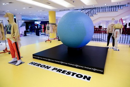 Heron Preston's NASA-inspired installation.Photo: BFA for Barneys New York