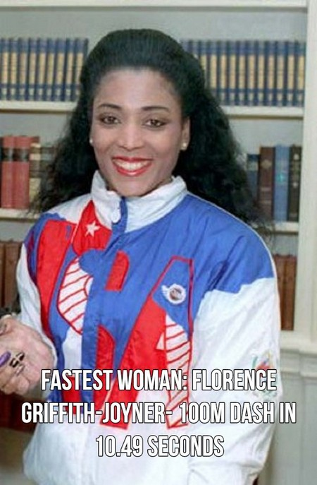 florence griffith joyner cropped A few of the fastest things on planet Earth (18 Photos)
