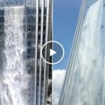 Chinese skyscraper has a 400ft waterfall built in (Video)