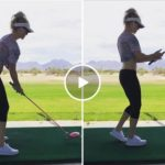 Golfer's definitely driving towards a dance career (Video)