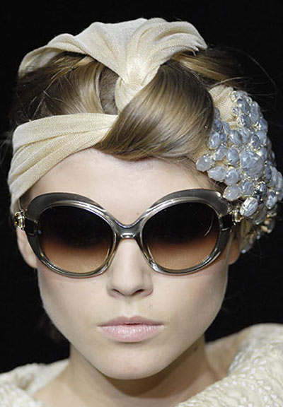 Fashion accessory has found a new shape to protect the eyes from ultraviolet light
