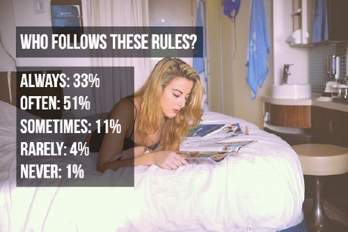person holiday vacation woman A look at annoying bedroom habits (8 Photos)
