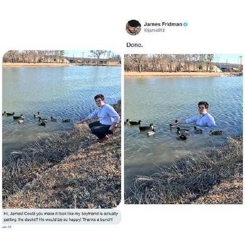 fjamie013 27575581 1816059535131416 3450410003565903872 n James Fridman, the unequivocal Photoshop trolling master, is at it again (30 Photos)