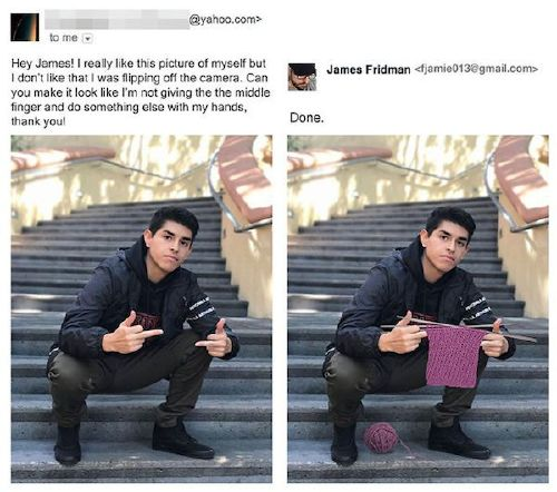 funny photoshop troll photo request james fridman 9 5b6a978eb2a02 png 880 James Fridman, the unequivocal Photoshop trolling master, is at it again (30 Photos)