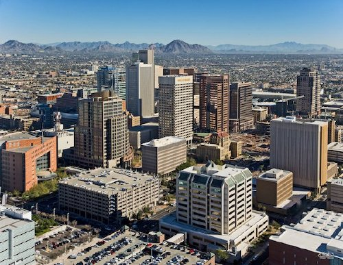 downtown phoenix aerial looking northeast Ranking the US cities with the most nice days (22 photos)