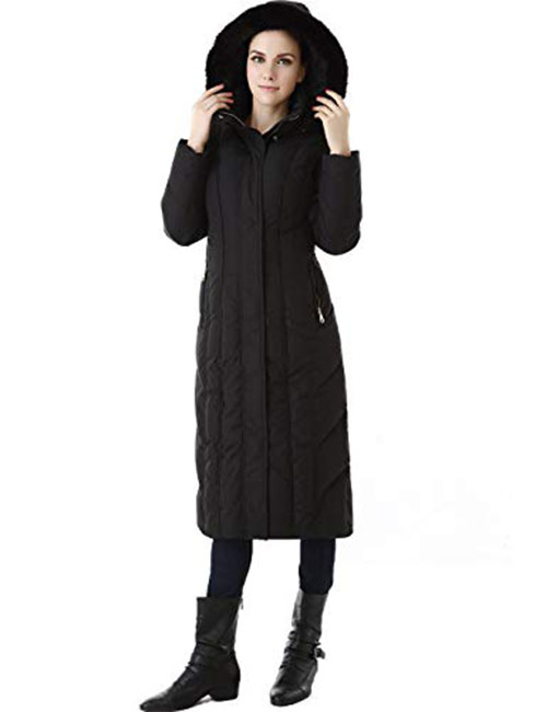 7. BGSD Women's Tabby Water Resistant Hooded Maxi