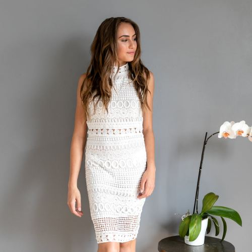 White Lace Dress, $7