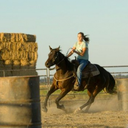 Horseback riding well trains muscles and beneficially affects women's health