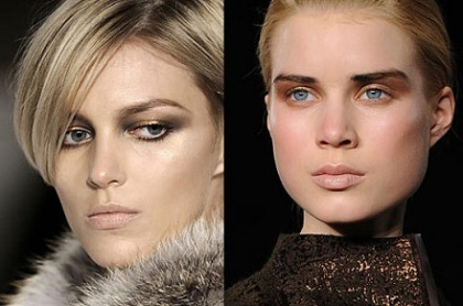 The main trend of fashionable make-up looks impressive, but it emphasizes skin imperfections