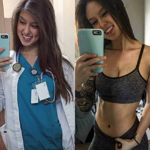 she can do both 23347929 295152850978206 6527111226214842368 n Beautiful bad asses in (and out of) uniform (35 Photos)