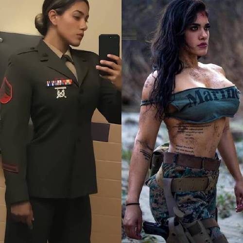 she can do both 26182138 176035123169151 2622953389708804096 n Beautiful bad asses in (and out of) uniform (35 Photos)