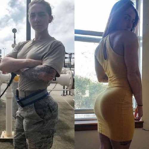 she can do both 29094643 180060299460226 7762273494749937664 n Beautiful bad asses in (and out of) uniform (35 Photos)