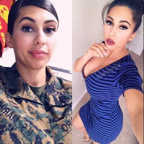 she can do both 41241858 327178328037653 7610520097823609614 n Beautiful bad asses in (and out of) uniform (35 Photos)