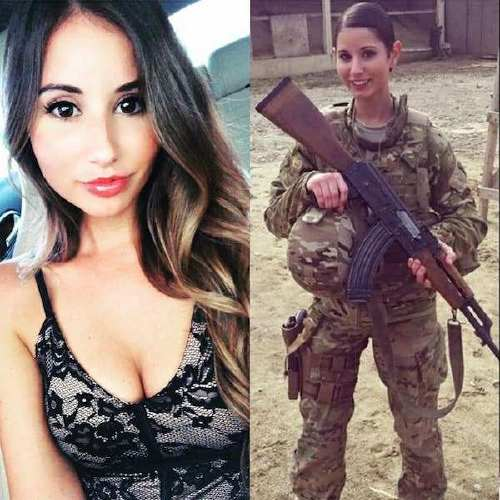 she can do both 41728635 1143399212480545 7416914382643401979 n Beautiful bad asses in (and out of) uniform (35 Photos)