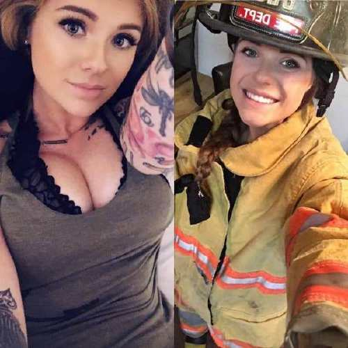 she can do both 41908671 2004482042944670 8571457974027499974 n Beautiful bad asses in (and out of) uniform (35 Photos)
