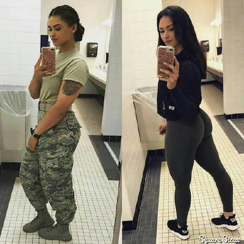 Beautiful bad asses in (and out of) uniform (35 Photos)
