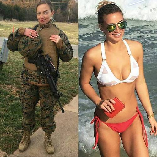 she can do both 22069385 1955823564705685 4262791952228941824 n1 Beautiful bad asses in (and out of) uniform (35 Photos)