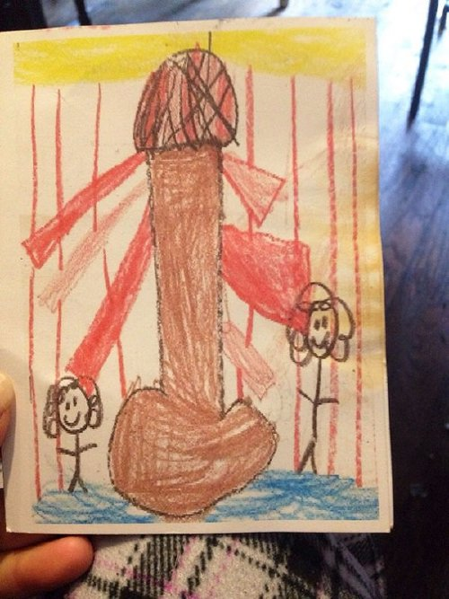 inappropriate funny kid drawings 55 605 Kids make for the greatest artists (33 Photos)