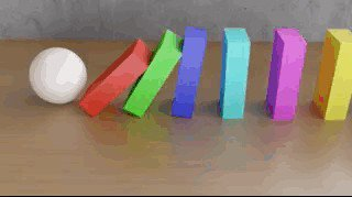 domino9 Mesmerizing CGI physics simulations we cant stop staring at (18 GIFs)