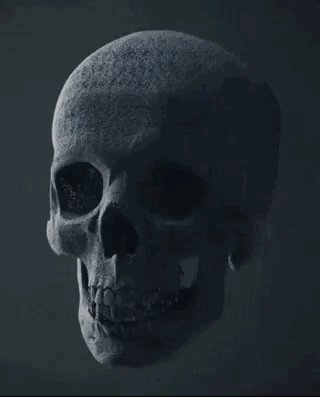 skull9 Mesmerizing CGI physics simulations we cant stop staring at (18 GIFs)