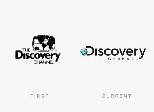 discovery channel old and new logo Old logos vs current logos of major companies (35 Photos)