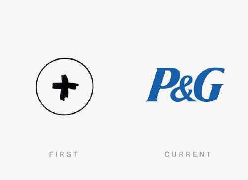 procter and gamble old and new logo Old logos vs current logos of major companies (35 Photos)