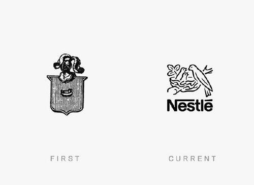 old logos vs current logos of major companies photos 7 Old logos vs current logos of major companies (35 Photos)