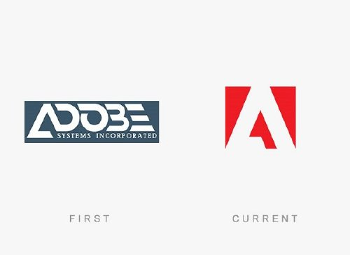 adobe systems old and new logo Old logos vs current logos of major companies (35 Photos)