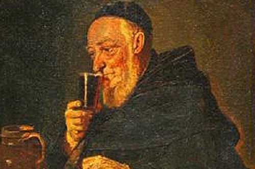 painting european monk drinking wine xixe Several of the oldest alcoholic drinks in history (9 Photos)