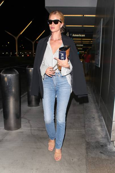 Rosie Huntington-Whiteley is the (unofficial) QUEEN of dress-down style. And dressed-up... for that matter.