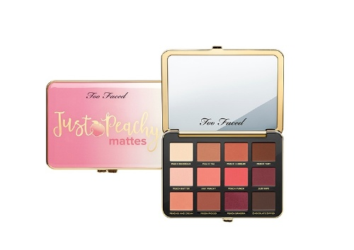 Палетка теней Just Peachy Velvet Matte Eyeshadow Palette, Too Faced