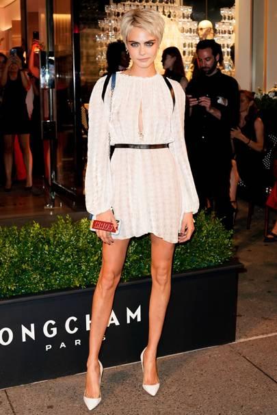 Cara Delevingne's breaks the dress code at the Royal Wedding