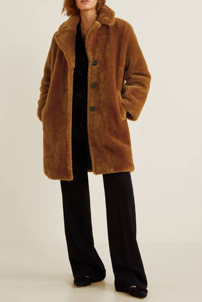 Mango Faux Fur Coat - £69.99