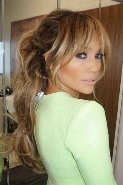 J-Lo just made the grown out fringe the hottest hairstyle of the season