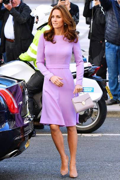 Kate Middleton was back to her sartorial best in this Erdem tweed midi dress