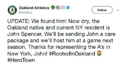oakland as fan has the best response after full beer was thrown at him x photos 3 Oakland As fan has the best response after full beer was thrown at him (13 Photos)